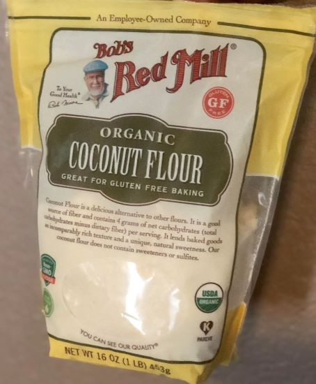 package of organic coconut flour