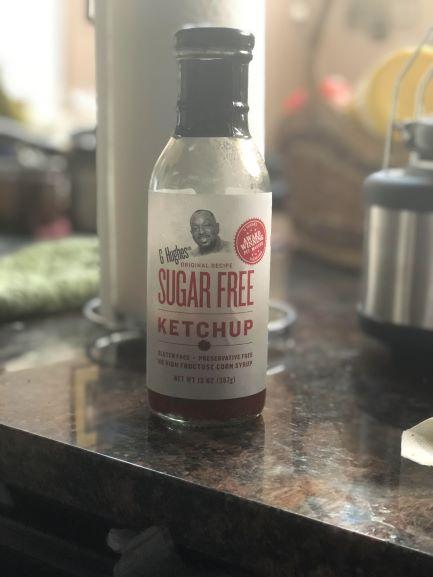 bottle of g hudges sugar free ketchup