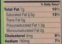 toaster strudel nutrition label