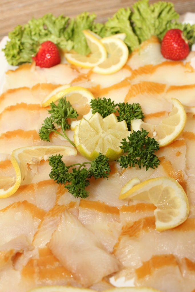 cooked halibut on a plate