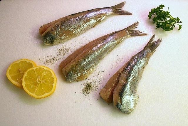 cut and sliced herring